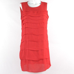 Zara Basic Vestido Rojo Olanes M Mrsp$900