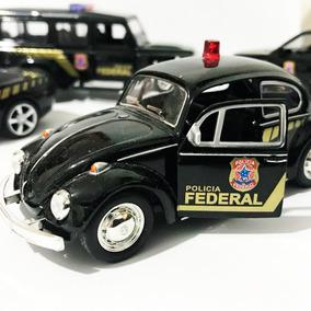 Kit Miniaturas Veículo Serviço Polícia Federal Camaro Fusca