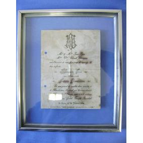Convite De Casamento Egito 1925 - Antigo Quadro