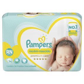 Fralda Pampers Premium Care Rn Com 36 Unidades - Até 4kg
