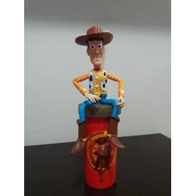 Woody Toy Story Disney Copo Com Tampa E Canudo