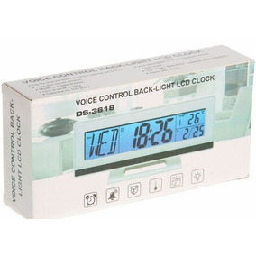 Relógio Digital De Mesa Temperatura Timer Ds-3618