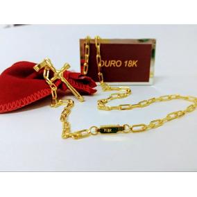Corrente Masculina Cartier 80cm Banhada A Ouro 18k