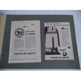 Panair Avião Aviação Propaganda Antiga Anos 50