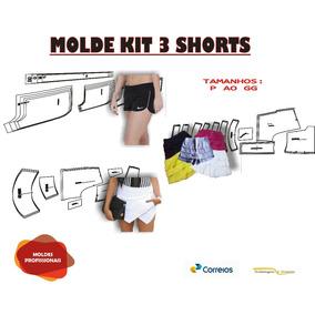Kit 3 Moldes De Short Lindos Escolher Tamanho Frete Gratis