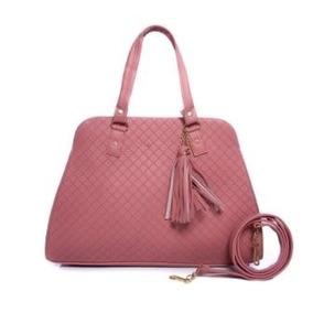 Bolso Karina Color Palo De Rosa Grande Premium