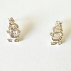 Aretes De Hipopótamos Con Postes De Plata Sólida .925