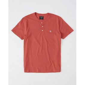 Camiseta Gola Botao Abercrombie & Fitch Original