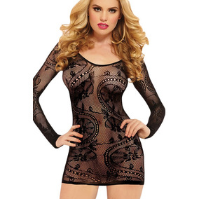 Sexy Vestido Lenceria Baby Doll Red Negro Table Dance 21882