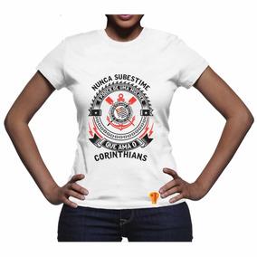 0450e62369 Blusinha Corinthians Feminina - Camisetas e Blusas no Mercado Livre ...