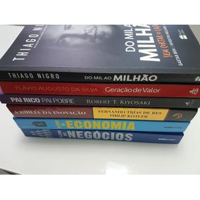 Pacote Livros Economia Pai Rico Mil Milhão Inovação Negócios