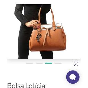 Linda Bolsa Letícia Couro Sintetico ! Elegância E Estilo !