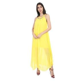 Vestido De Dama Amarillo De Fiesta 011572