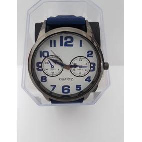 Relógio Masculino Quartz Com Pulseira De Silicone