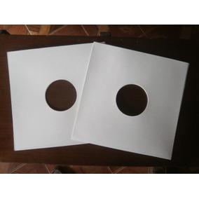 Capa Dura P/ Disco De Vinil Lp Djs, Papelão Branco 250 Unid.