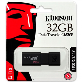 Memoria Usb 32gb Kingston Dt100g3/32gb 3.0 Negro