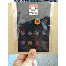 Pin Pokemon - Insignia Do Trovão - Nerd Loot League (3/12)