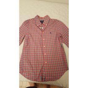 Camisa Social Polo Ralph Lauren Tamanho 10-12 Nova Original. R  90 9e6413ff1b0