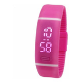 Reloj Digital Deportivo Mujer Silicona Vot6 Color Rosado