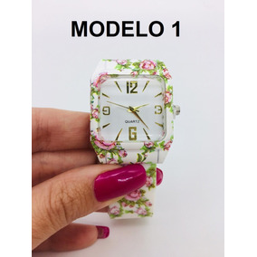Relógio Floral Feminino Silicone Couro Vários Modelos+ Caixa