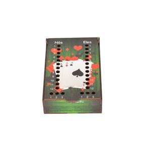 Caixa Jogo Truco Baralho Mdf Personalizada Modelo Cartas