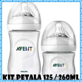 Kit 02 Pcs Mamadeira Petala 125ml E 260ml Philips Avent