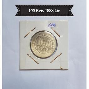 Moeda 100 Reis 1888 - Fundo Linhado