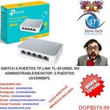 Switch 5 Puertos Tp-link Tl-sf1005d, No Administrable/deskto