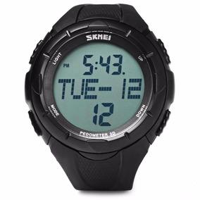 Reloj Quarzo Skmei 1122 Podometro Negro Sumergible