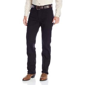 Pantalon Jeans Mezclilla Wrangler Corte Recto Negro 33 X 32