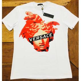 Camiseta Versace Medusa White Tam M Pronta Entrega d01470af7b0