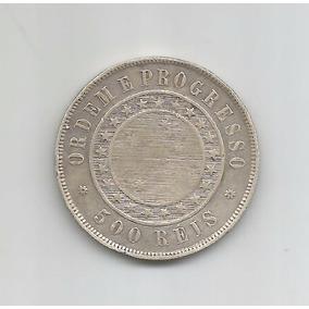 Moeda Brasil - 500 Réis - 1889 - Prata - Soberba