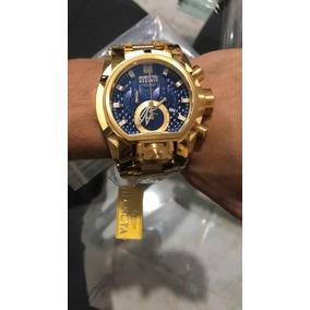 Relógio Invicta Zeus Magnum Dourado Azul 25209 Top Top