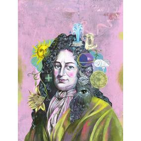 Poster Cartaz Wilhelm Leibniz Ciência Olaf Hajek 40x27 Cm