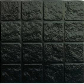 Adoquinado Recto Grande Negro 40x40 Cm. Mosaicos Lanik