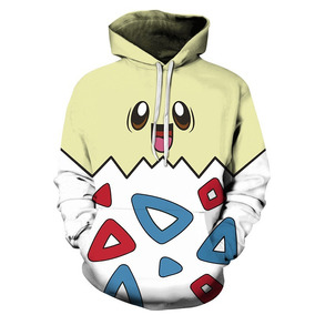 Moletom Canguru 3d Full Unissex Roupa Pokémon Togepi . 21431b4f687