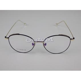 Armação Óculos Grau Feminino Retrô Redondo Quadrado Preto ! d4fe7ec793