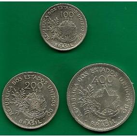 3 Moedas 100, 200 E 400 Réis De 1901 - Mbc
