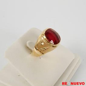 Anillo De Oro De 18 Quilates Con Piedra Rubi Ofera!! +envio