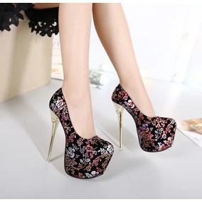 c99a11e18 Saltos Femininos Importados Tamanho 34 - Sapatos 34 no Mercado Livre ...