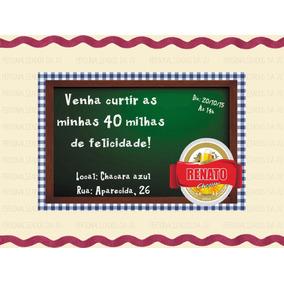 Kit Festa Boteco Rj Convites De Chá Bar No Mercado Livre Brasil