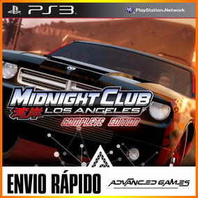 Midnight Club Los Angeles Complete Edition - Jogos Ps3 Psn