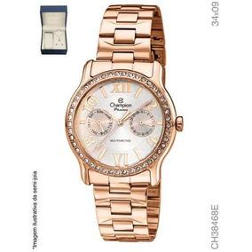 aaf50e1ff95 Relogio Feminino Dourado Champion Rose - Relógios no Mercado Livre ...