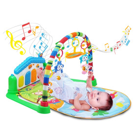 Tapete De Atividades Bebê Som E Luz Piano - Casinha