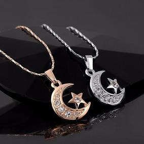 Bellisimo Collar De Luna Con Estrella Swarovski, Regalo Amor