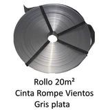 Cinta Rompe Viento Gris Plata P Malla Ciclonica 20m2 Gp20