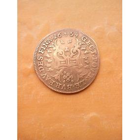 Moeda Espanha De 1654. Cobre. Mbc.