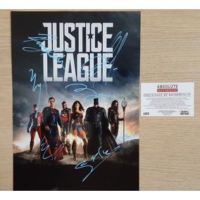 Liga Da Justiça Poster Autografado