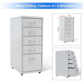 W/5 Archivador De Metal Cajones Oficina Hogar Fijo Mang-4364