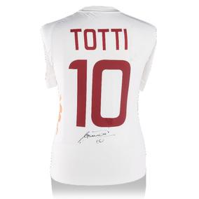 Francesco Totti Playera Firmada De La Roma Visitante